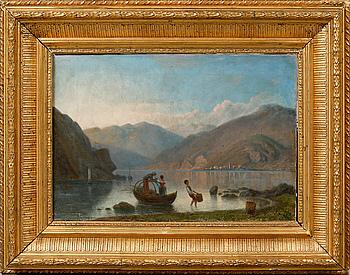 OSCAR OHLSON, olja på duk, signerad och daterad 1884.