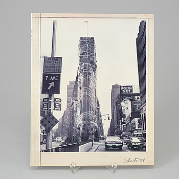 """CHRISTO & JEANNE-CLAUDE, bok/katalog (1991), """"Projects Not Realized and works in progress"""", signerad."""