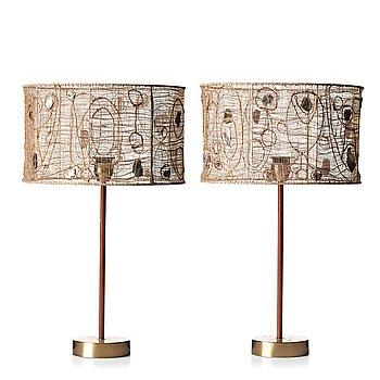 245. MODERNISTISK FORMGIVARE, bordslampor, ett par, ca 1955.
