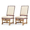 A pair of french baroque chairs, circa 1700.