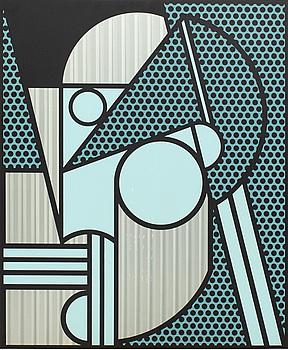 """240. Roy Lichtenstein, """"Modern head #4""""."""