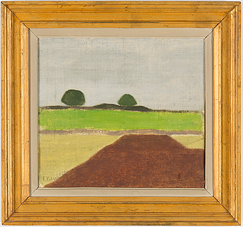 AXEL KARGEL, olja på duk uppklistrad på pannå. Signerad och daterad 1949.