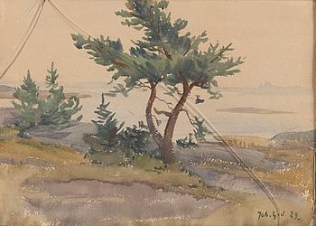 JOHANNES GEBHARD, akvarell, signerad och daterad -29.