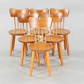 TORSTEN CLAESSEON, stolar, 6 st, Steneby Hemslöjd, 1940-tal.