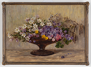 FANNY HJELM, FANNY HJELM, oil on board, signed and dated 1923.
