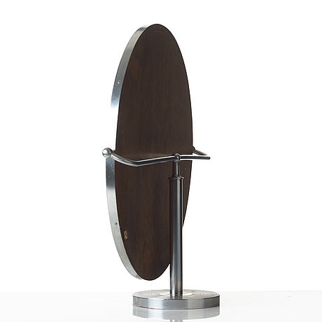 Josef frank, a chrome plated brass table mirror, svenskt tenn, model 2214.