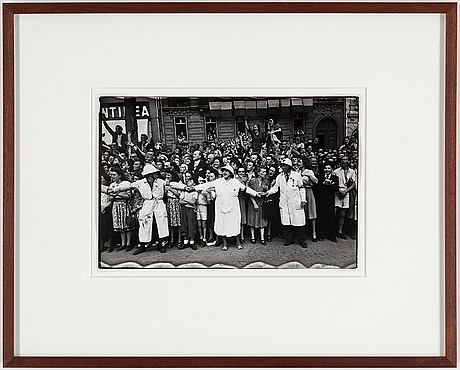 Henri cartier-bresson, gelatin silver print stamped by the photographer and with europapress ab copyright stamp verso.