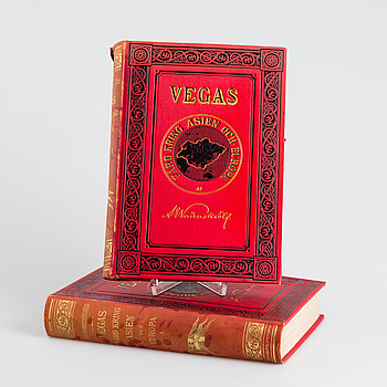 BÖCKER: Vegas Färd kring Asien och Europa, AE Nordenskiöld, Beijers förlag 1880-1881.