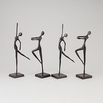SKULPTURER, 4 st, metall, design Bodrul Khalique.