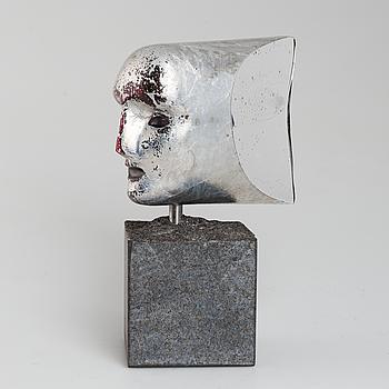 """BERTIL VALLIEN, skulptur glas,  """"Janus ansikte"""", signerad och numrerad."""