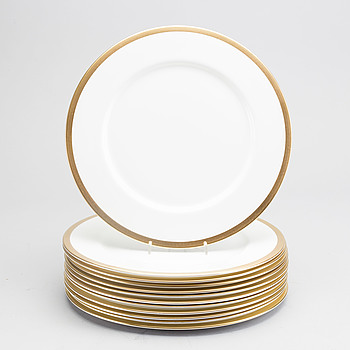 KARIN BJÖRQUIST, KARIN BJÖRQUIST, a set of 12 porcelain Nobel plates.