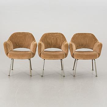"""FÅTÖLJER, 3 st, """"Executive Chair"""", Eero Saarinen, 1900-talets andra hälft,"""