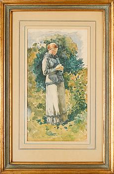 CARL FREDRIK VON SALTZA, watercolour, signed and dated 83.