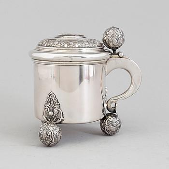 STOP, silver, GAB, Stockholm 1905. Vikt 576 gram.