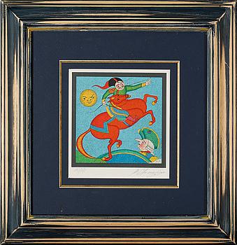 MIKHAIL CHEMIAKIN, färglitografier, 2 st, signerade och numrerade 143/275.