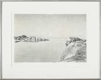 JOHN-E FRANZÉN, litografi, signerad JEF numrerad 90/200 samt daterad 1993.