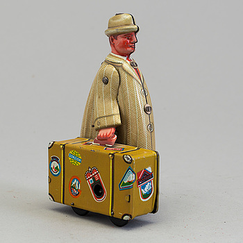 FRITZ VOIGT, man with suitcase, Germany, 1950's.