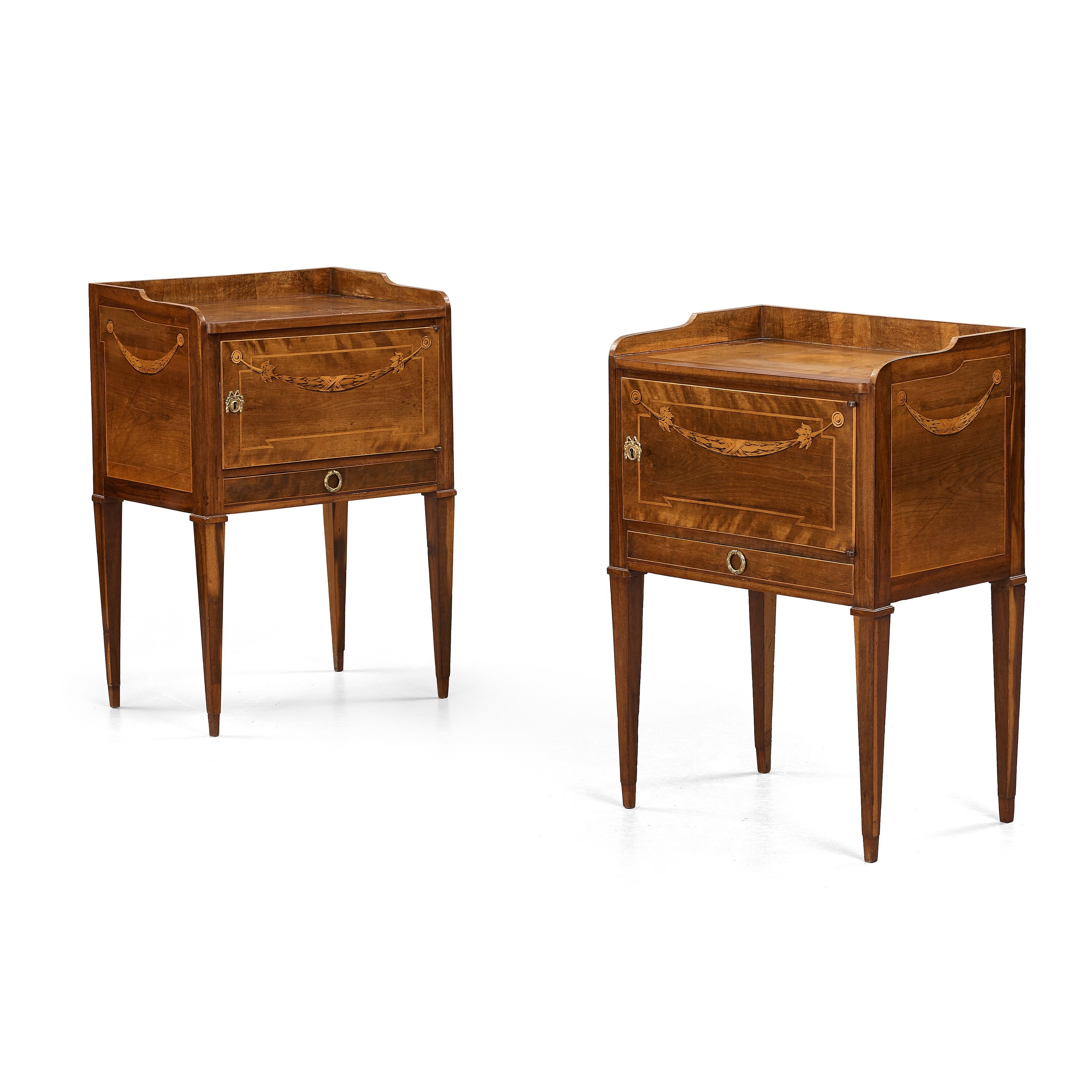 A pair of gustavian bedside tables by georg haupt master in a pair of gustavian bedside tables by georg haupt master in stockholm 1770 1784 not signed bukowskis watchthetrailerfo