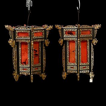 LYKTOR, ett par, Kina, tidigt 1900-tal.