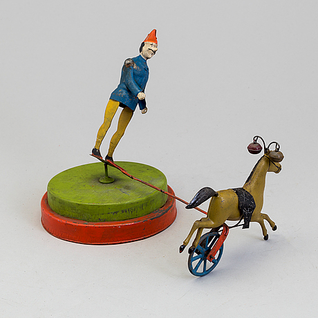 A mechanical tin toy, probably germany early 20th century