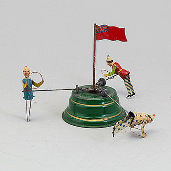 A MECHANICAL TIN TOY, probably Germany, early 20th century.
