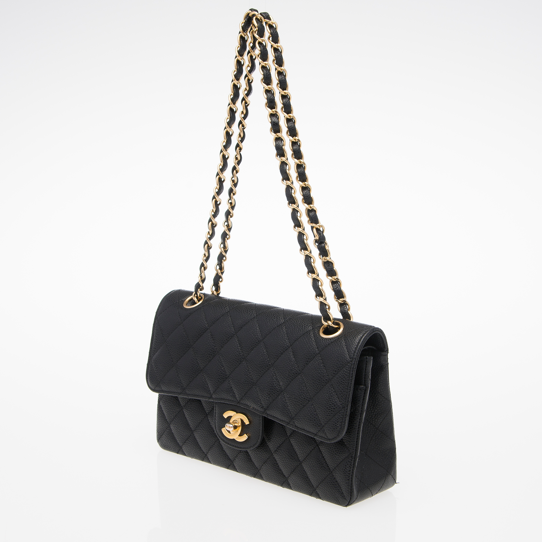 A Caviar Leather Double Flap Bag 34ffcdc700006