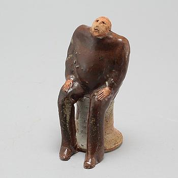 LISA LARSON, skulptur, stengods, unik, signerad och daterad -80.