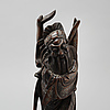 Three chinese wooden sculptures, 20th century