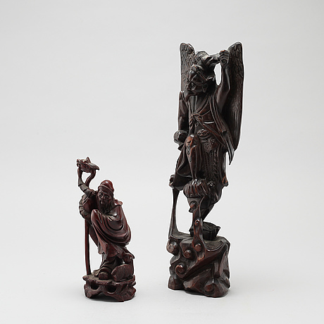 Two east asian sculptures from the 20th century