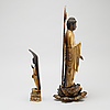Two japanese buddhas, meiji period (1868 1912)