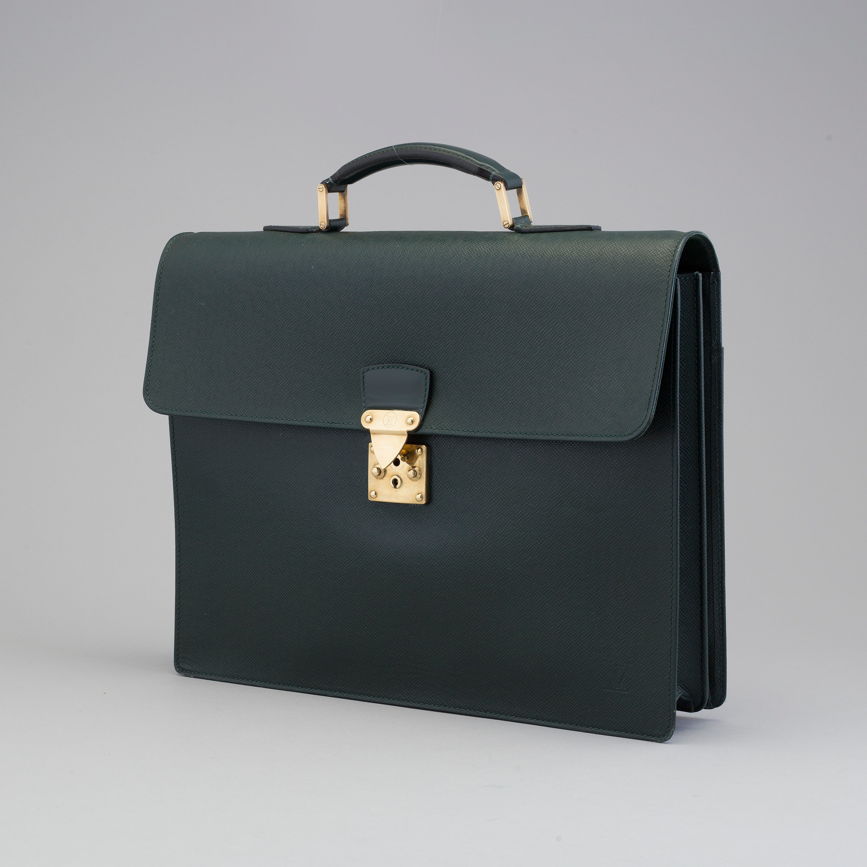 823759c7c A 'Moskova' taiga leather briefcase from Louis Vuitton. - Bukowskis