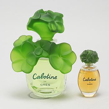 CABOTINE, så kallade faktiser, 2 st, parfymflaskor.