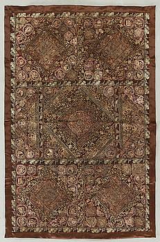 DUK, troligen persisk, broderad, 1900-talets andra hälft.