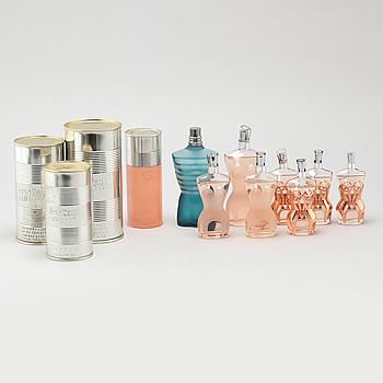 JEAN PAUL GAULTIER, så kallade faktiser, 9 st, parfymflaskor.