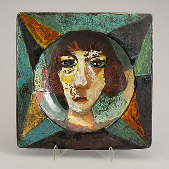 ALLAN EBELING, fat, glaserad keramik, signerat och daterat 1936.