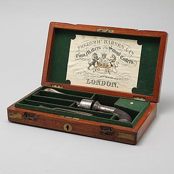 SLAGLÅSREVOLVER, Frederic Barnes & Co., London, 1800-talets första hälft.