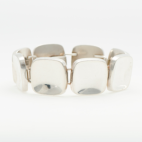 A georg jensen bracelet, silver, design bent knudsen, 1960s