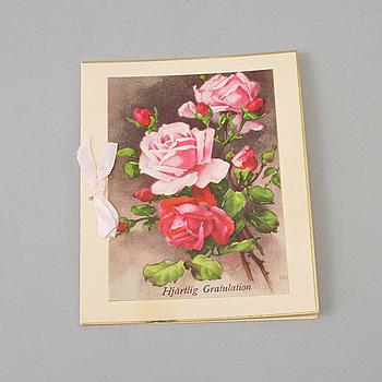 GRETA GARBO (1905-1990), egenhändigt signerat gratulationskort, 1920-tal.