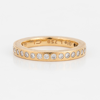 "OLE LYNGGAARD, ring med 26 briljantslipade diamanter totalt 0.42 ct, ""Forever Love""."