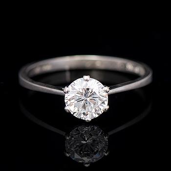 RING, briljantslipad diamant, 18K vitguld.