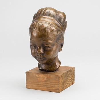 HELGE HÖGBOM, skulptur, brons, signerad.