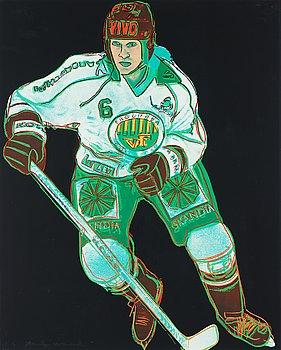 """238. ANDY WARHOL, """"Frölunda Hockey Player""""."""