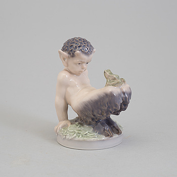 FIGURIN, porslin, Christian Thomsen. Royal Copenhagen.