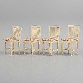 STOLAR, stolar, fyra stycken, Sengustavianska, Sverige, 1800-talets början.