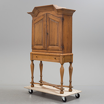 a partly baroque cabinet, 18th century.