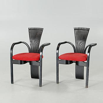 """TORSTEIN NILSEN, ett par stolar, """"Totem"""", Møremøbler, i produktion från 1983."""