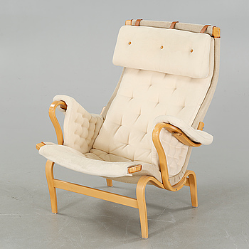 """An armchair, """"Pernilla"""" by Bruno Mathsson for Dux, second half of the 20th century."""