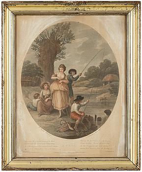 GRAVYRER. 12 st, England 1800-tal.