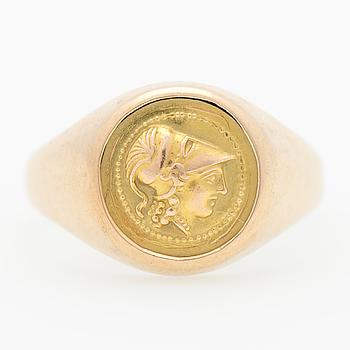 RING, 14K guld.