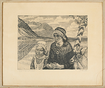EDUARD WIIRALT, an etching, signed and dated 1946.